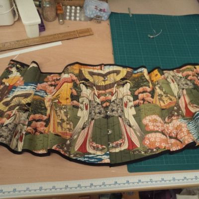 Prior Attire pattern matched corset