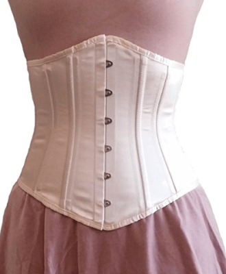 Same corset in champagne satin.