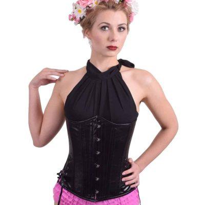 Black-leather-slim-longline-corset