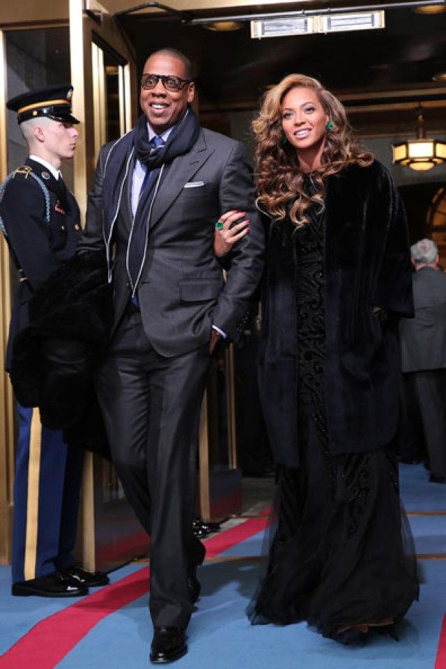 Beyonce JayZ Inauguration 2013 Emilio Pucci
