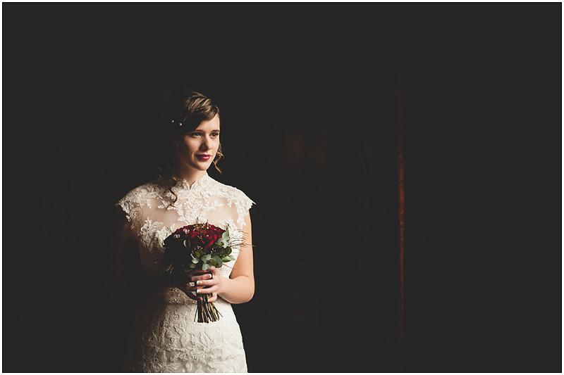 A Christmasy Styled Bridal Shoot At Penyard House