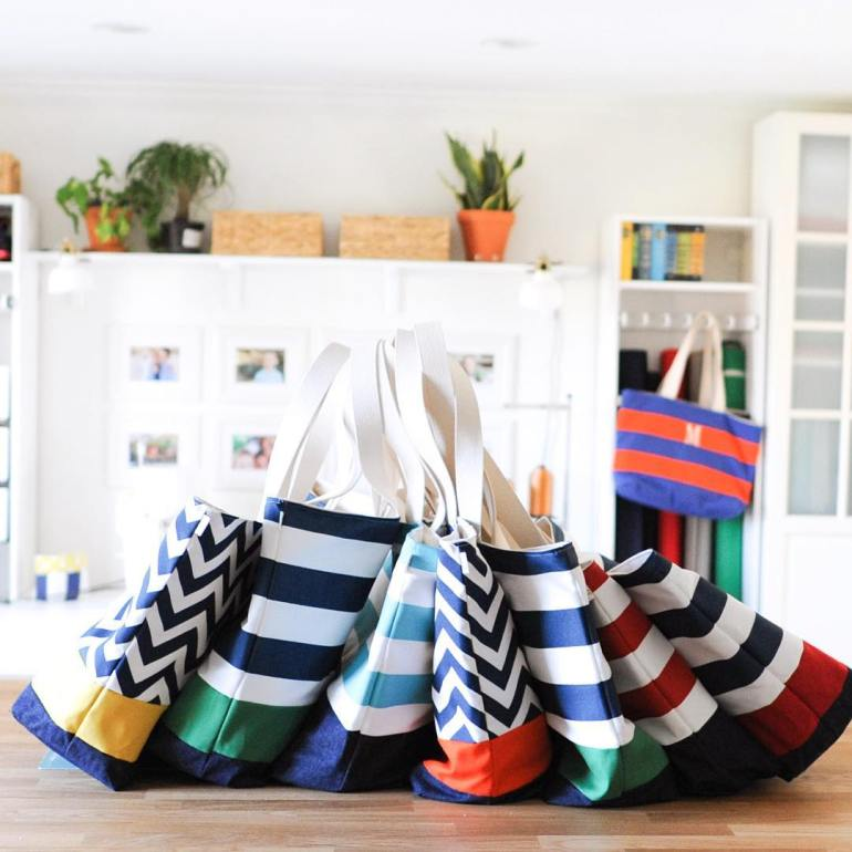 Lucy Jane Nautical Totes for Corporate Gift Order