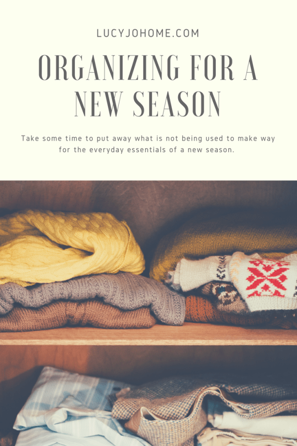 Organizing for a New Season