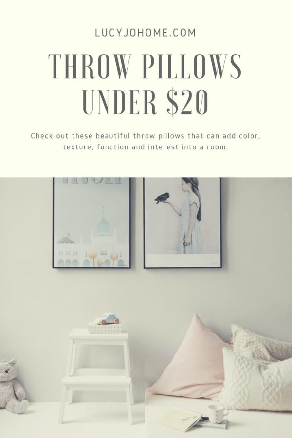 Throw Pillows Under $20