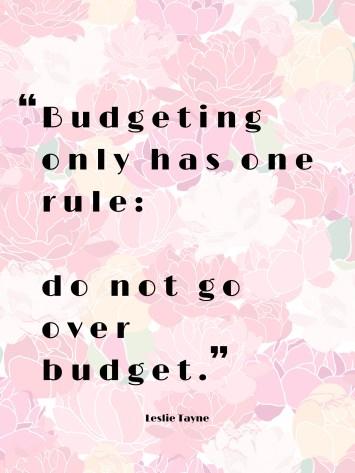 budgeting mindset