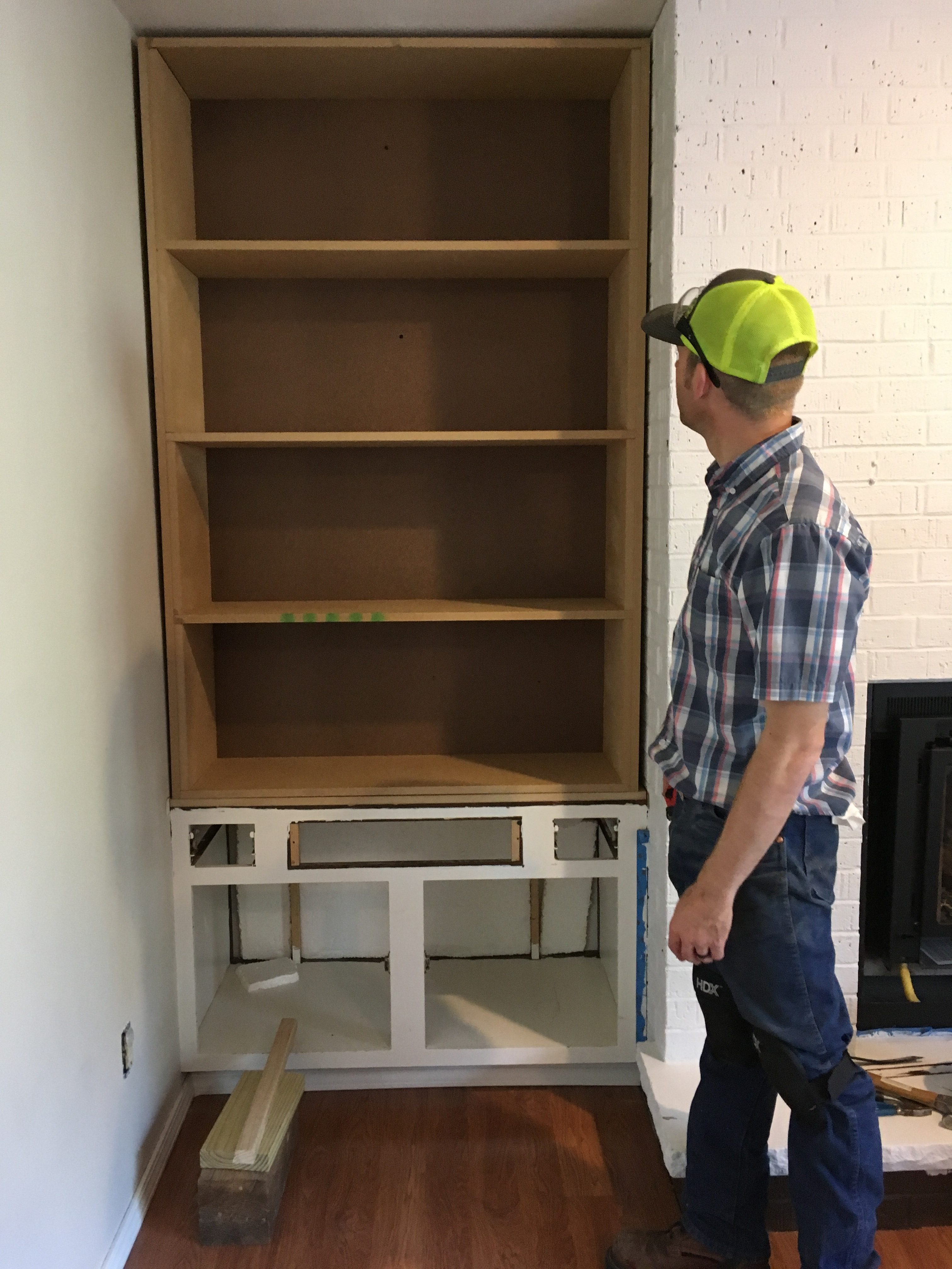 how to make custom built in shelves next to the fireplace - How To Make Custom Built In Bookshelves