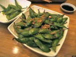 Garlic edamame at Tataki