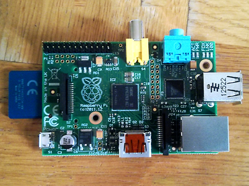 SD Card inserted into Raspberry Pi.