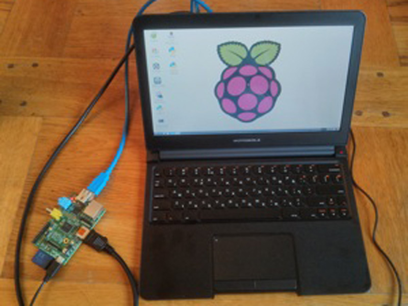 The power cables were attached to the lapdock and Pi. Then there was a small amount of faff required to set up the software (it isn't a Mac that works just out of the box). Everything has to be on and powered up before the Pi is plugged in. But now, I have a fully functional Raspberry Pi.