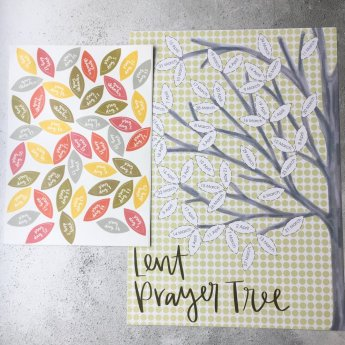 creative lent ideas for families, hope and ginger, cheerfully given, lent prayer tree