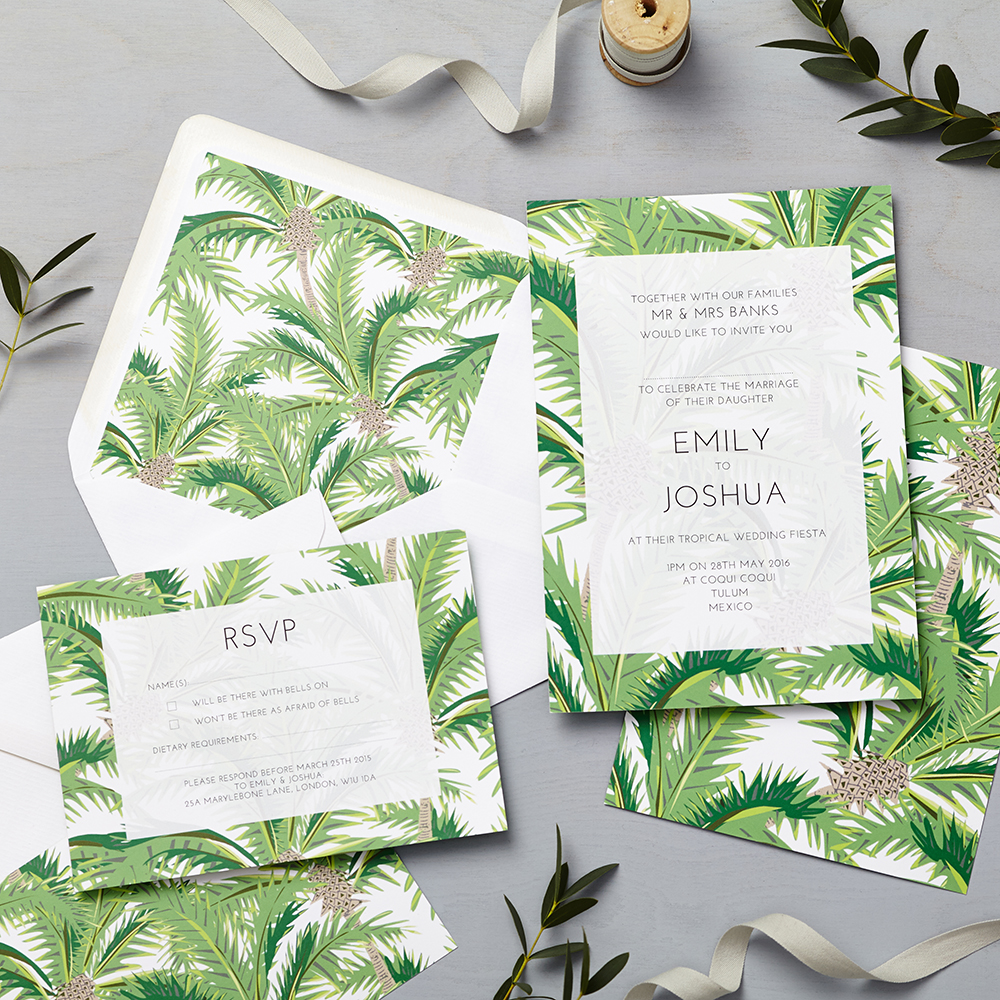 Tropical Invitation Lucy Says I Do