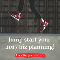 Jump Start your business planning for 2017. In depth business coaching session with Lucy Stanyer.