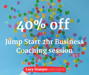40th birthday offer - 40% off Jump Start business planning https://lucystanyerlifecoach.com/jump-start-your-business-plan/