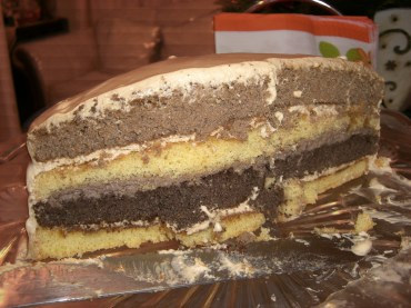 The alleged Opera cake. Didn't look good but it tasted good!