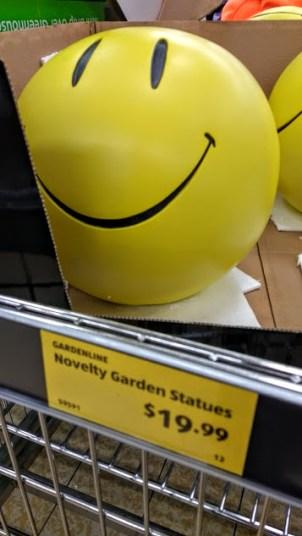 smiley decorazione da giardino