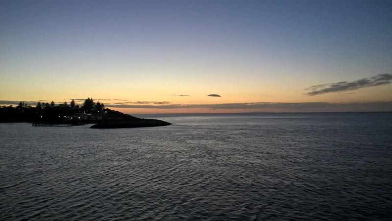 Kangaroo Island al tramonto vista dal traghetto