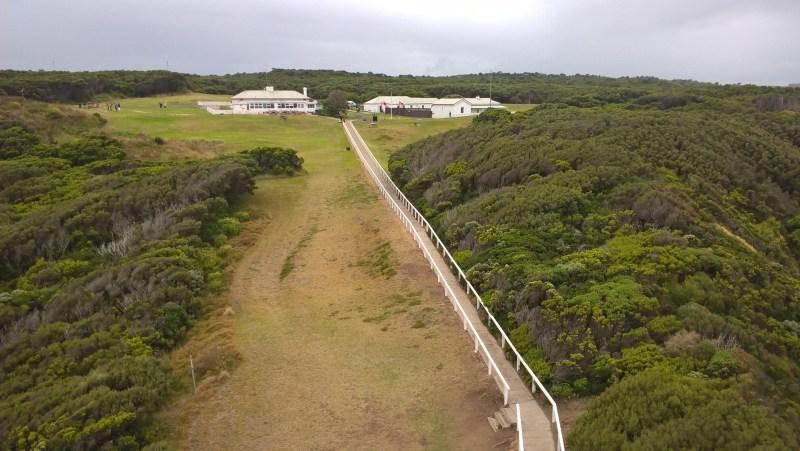 Cape Otway vista dall'alto del faro