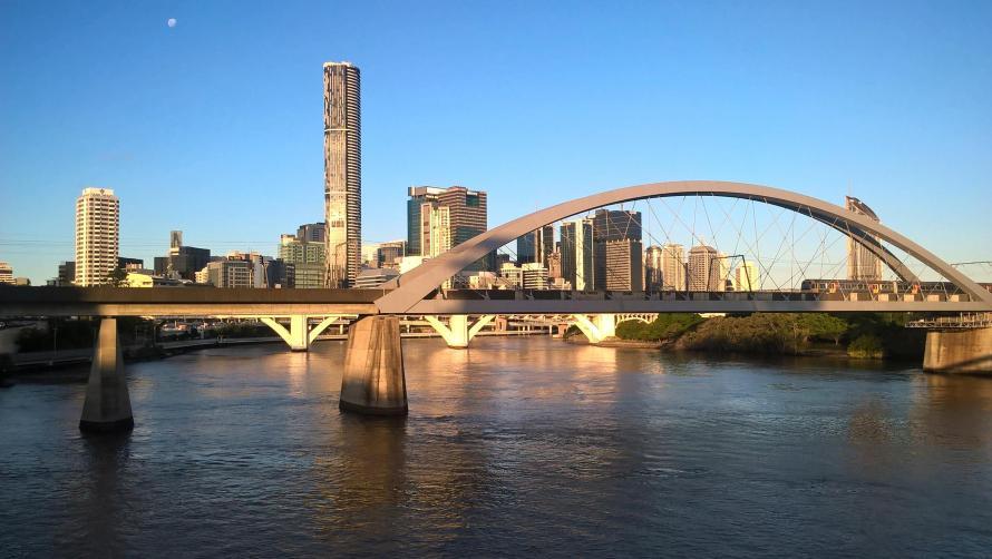 brisbane panorama skyline e fiume