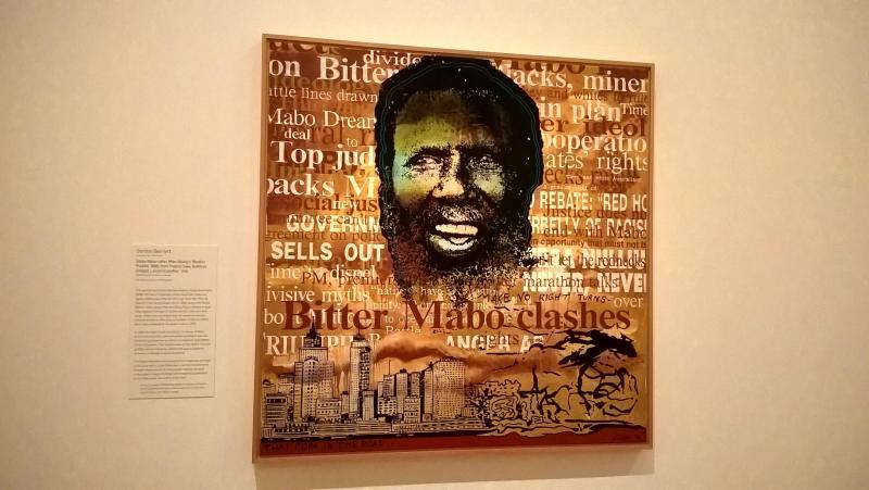 dipinto australiano con aborigeno