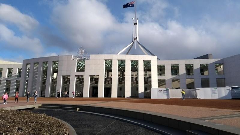 Parlamento Australiano di Canberra, facciata esterno