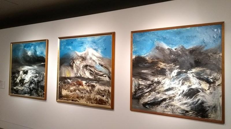 """Trittico di quadri di Sidney Nolan, """"Antarctica"""""""