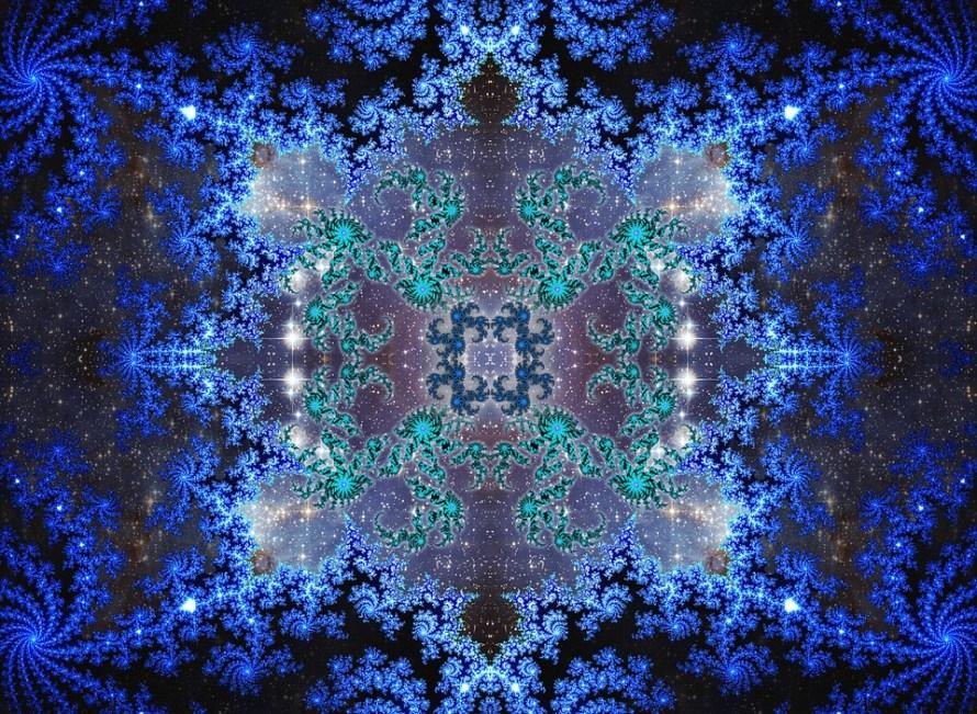 caleidoscopio blu