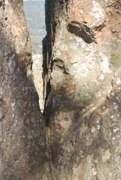 fratture nella roccia a hanging rock