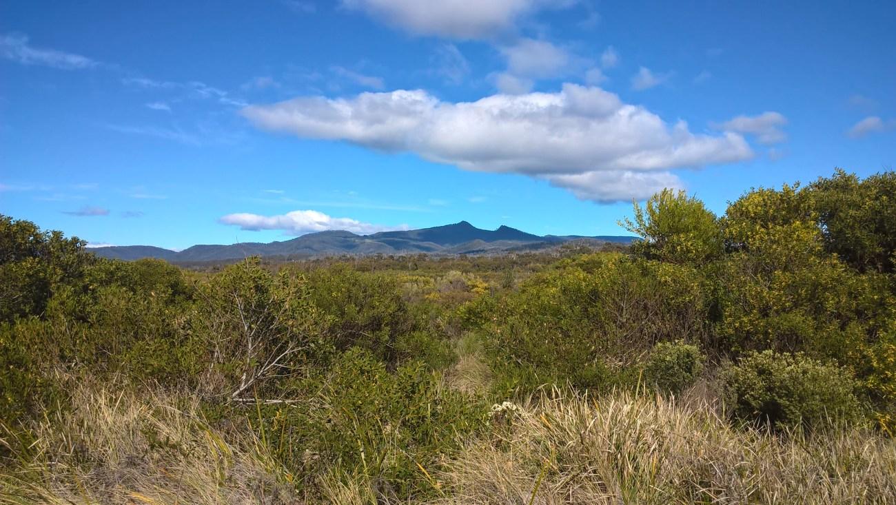 tasmania paesaggio vista dal glamping