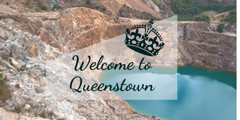 Queenstown Tasmania panorama lago smeraldo