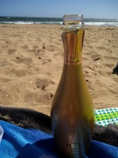 spumante in spiaggia