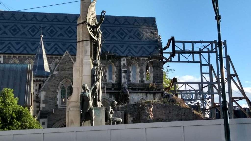 christchurch chiesa rovinata in ricostruzione