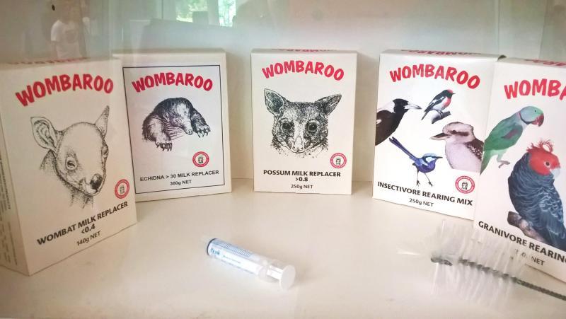wombaroo, cibo per animali selvatici in cura