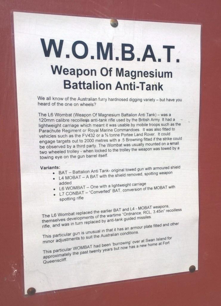 wombat fucile arma spiegazione
