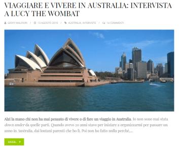 viaggiare e vivere in australia intervista a lucy the wombat