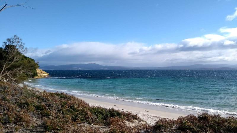 Maria Island, Tasmania: panorama spiaggia e mare