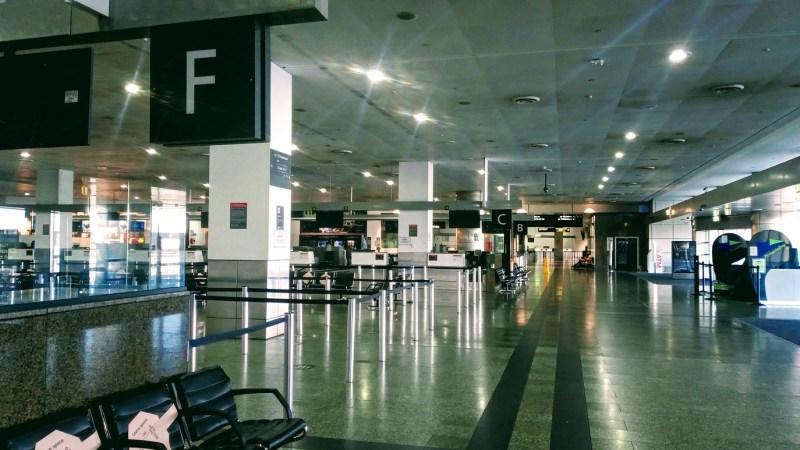Aeroporto di Melbourne vuoto