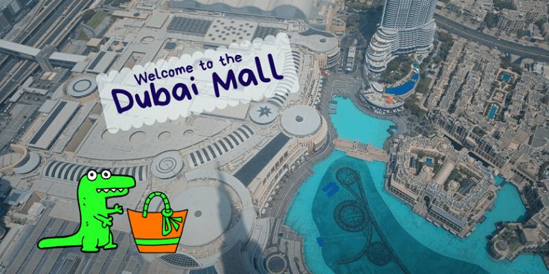 Il centro commerciale Dubai Mall visto dall'alto