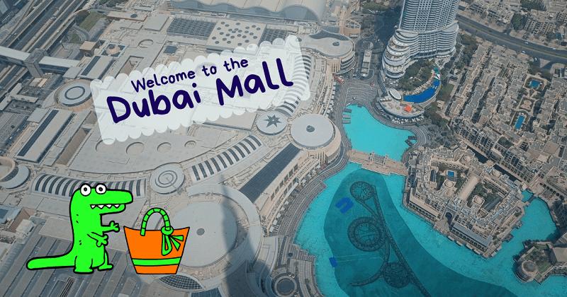 centro commerciale dubai mall visto dall'alto