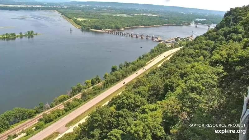 vista del Mississippi dall'alto