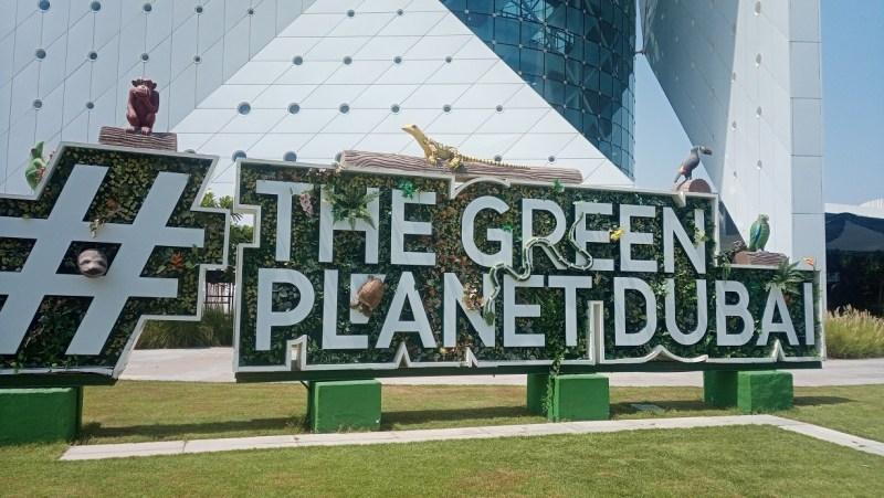 The Green Planet Dubai insegna esterna
