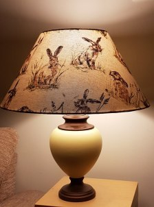 A bespoke lampshade made for a very lovely local lady.. you know who you are Sue!