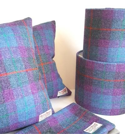 Harris Tweed Lampshades and Cushions