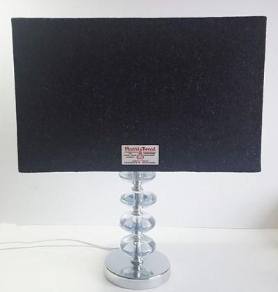 Rectangular Charcoal Harris Tweed Table Lamp
