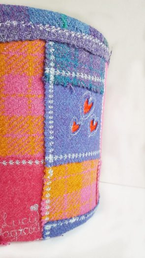 Custom Harris Tweed Patchwork Lampshade