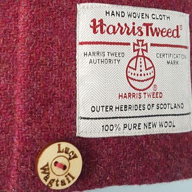 Raspberry Harris Tweed Floor Lamp Shade