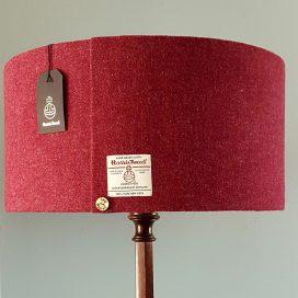 50cm D Raspberry Harris Tweed Floor Lamp Shade