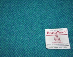 Harris Tweed - Teal Herringbone