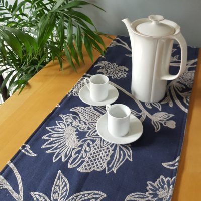 Table Runner and Coffee Pot