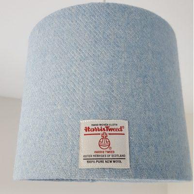Blue Harris Tweed 20cm Lampshade