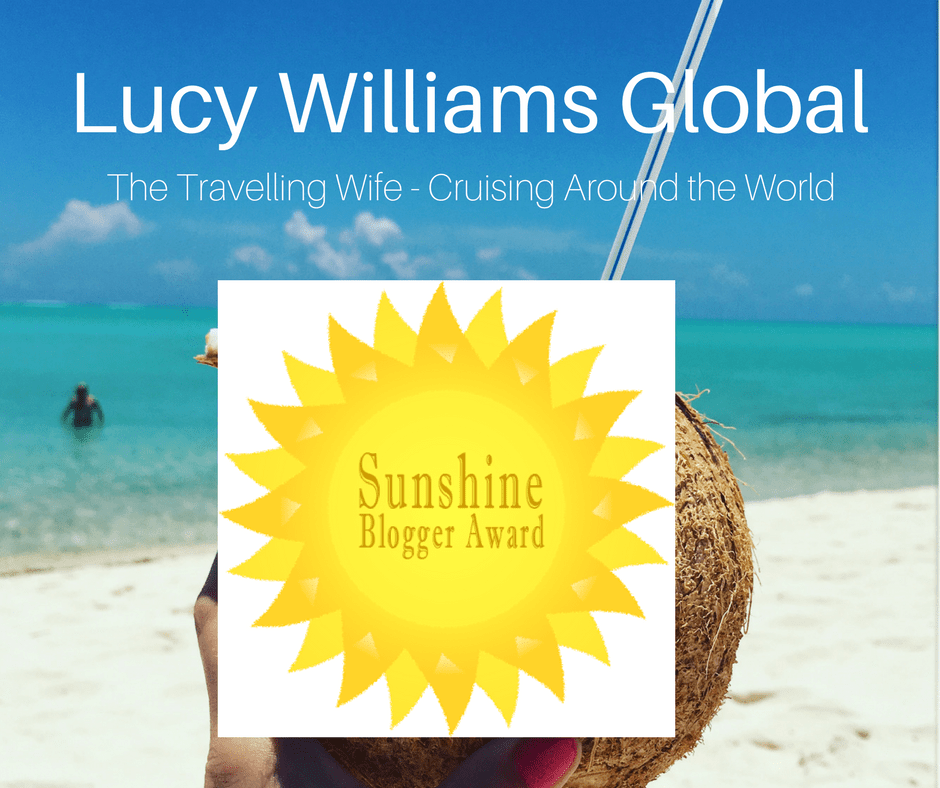 Lucy Williams Global Sunshine Blogger Award